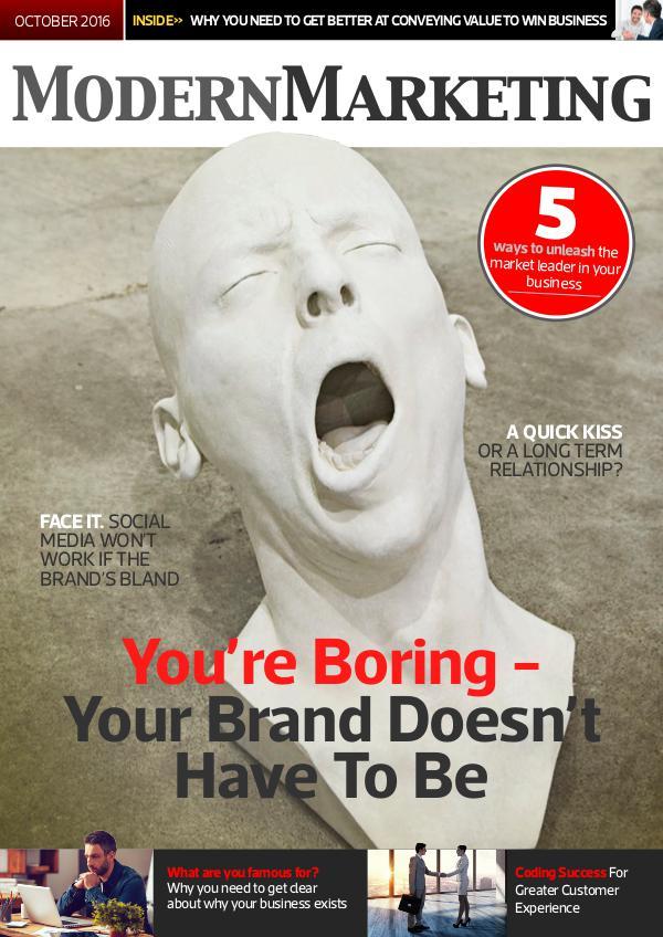 Modern Marketing Magazine October 2016