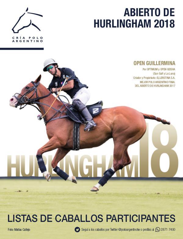 Listas Raza Polo Argentino Hurlingham18AACCP