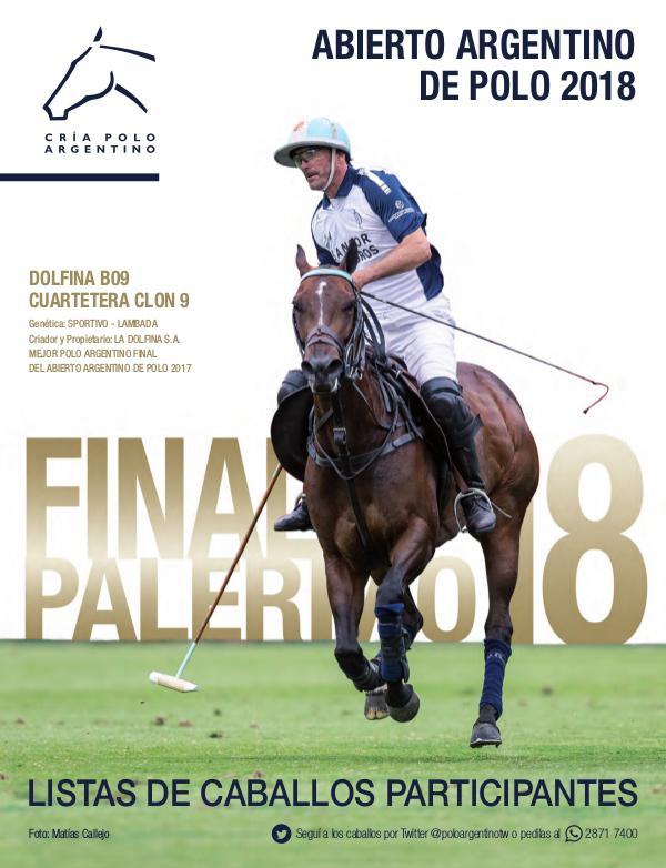 Listas Raza Polo Argentino PalermoFinal18AACCP