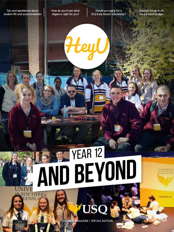 HeyU Special Edition - Year 12 and beyond