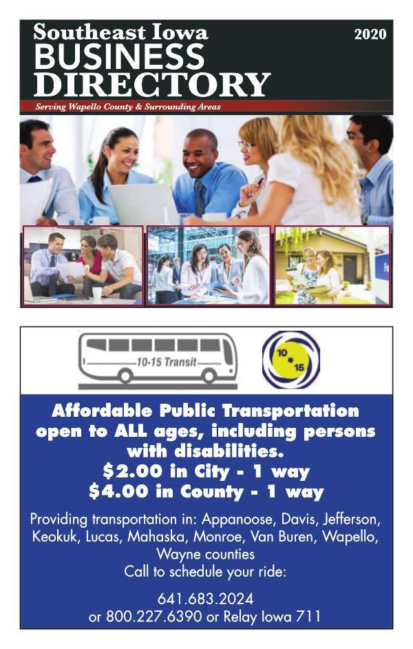 Southeast Iowa, Business Directory 2020