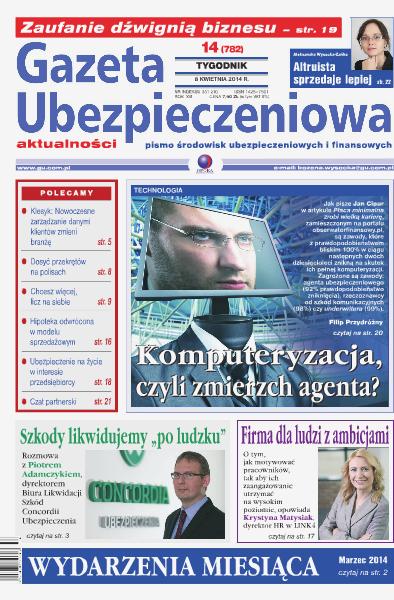 Gazeta Ubezpieczeniowa - wydanie elektroniczne nr 14/2014