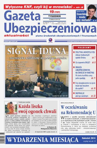 Gazeta Ubezpieczeniowa - wydanie elektroniczne nr 19/2014