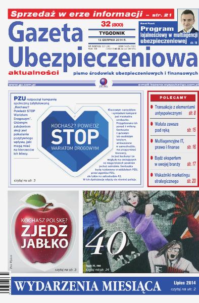 Gazeta Ubezpieczeniowa - prenumerata nr 32/2014