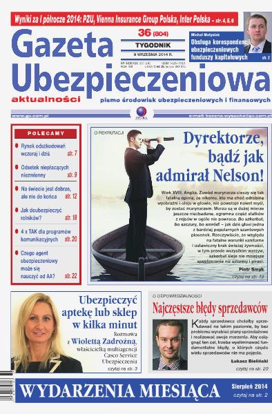 Gazeta Ubezpieczeniowa - wydanie elektroniczne nr 36/2014