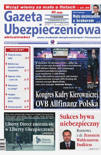 Gazeta Ubezpieczeniowa - wydanie elektroniczne nr 41/2014
