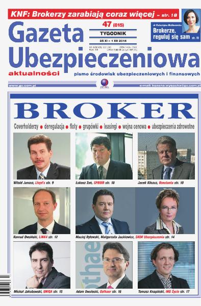 Gazeta Ubezpieczeniowa - wydanie elektroniczne nr 47/2014