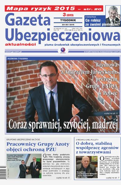 Gazeta Ubezpieczeniowa - wydanie elektroniczne nr 03/2015