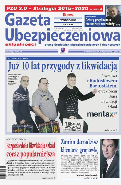 Gazeta Ubezpieczeniowa - wydanie elektroniczne nr 05/2015