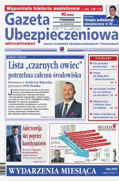 Gazeta Ubezpieczeniowa - wydanie elektroniczne nr 10/2015