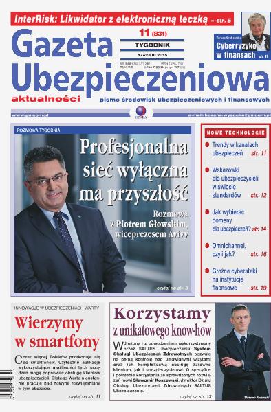 Gazeta Ubezpieczeniowa - wydanie elektroniczne nr 11/2015