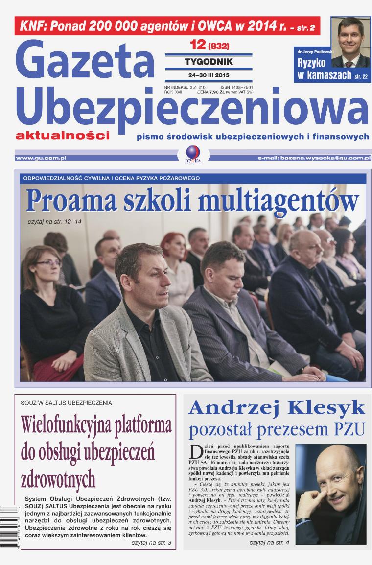 Gazeta Ubezpieczeniowa - wydanie elektroniczne nr 12/2015