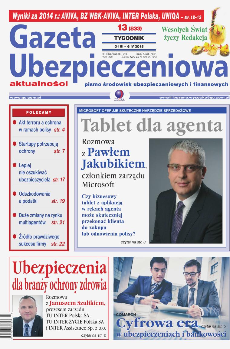 Gazeta Ubezpieczeniowa - wydanie elektroniczne nr 13/2015