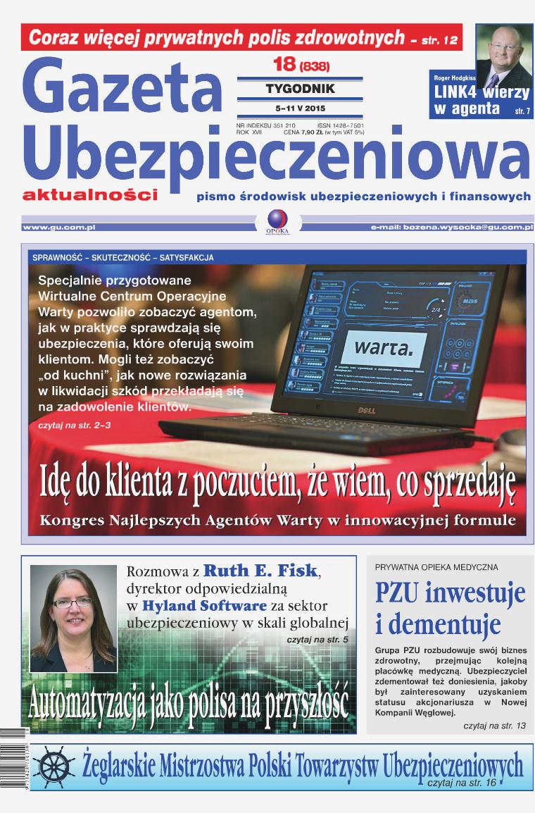 Gazeta Ubezpieczeniowa - wydanie elektroniczne nr 18/2015
