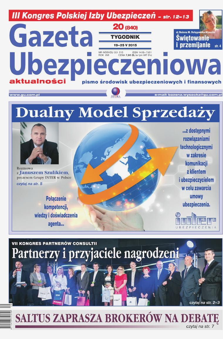 Gazeta Ubezpieczeniowa - wydanie elektroniczne nr 20/2015