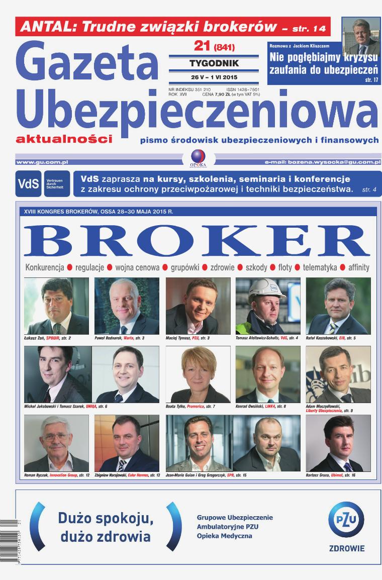 Gazeta Ubezpieczeniowa - wydanie elektroniczne nr 21/2015