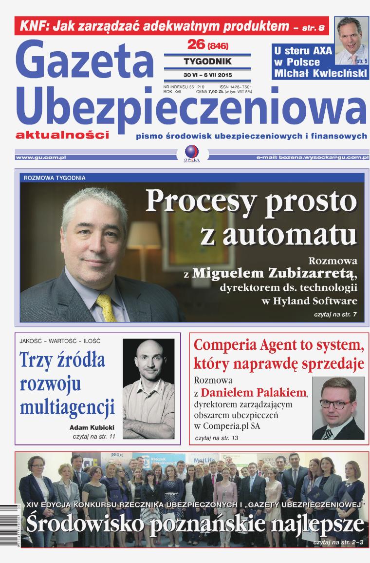 Gazeta Ubezpieczeniowa - wydanie elektroniczne nr 26/2015
