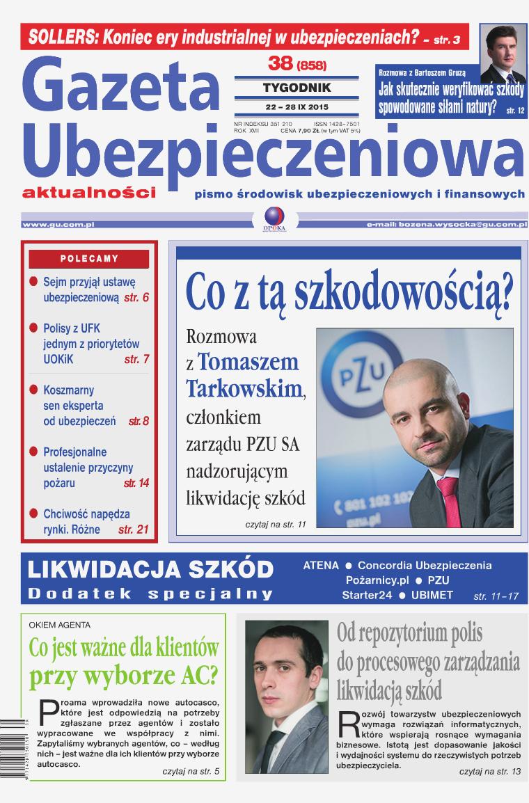 Gazeta Ubezpieczeniowa - wydanie elektroniczne nr 38-2015