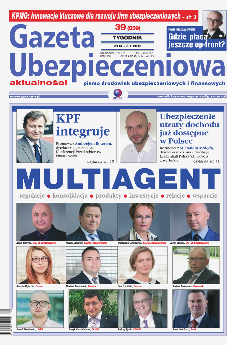 Gazeta Ubezpieczeniowa - wydanie elektroniczne nr 39-2015