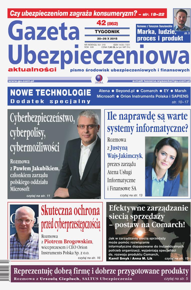 Gazeta Ubezpieczeniowa - wydanie elektroniczne nr 42-2015