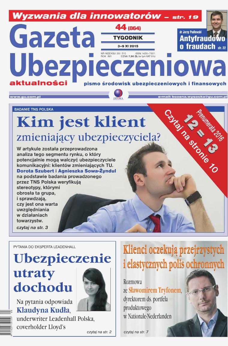 Gazeta Ubezpieczeniowa - wydanie elektroniczne nr 44-2015
