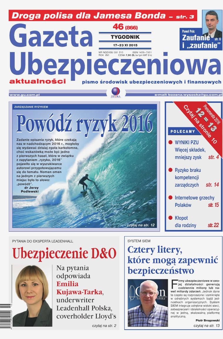 Gazeta Ubezpieczeniowa - wydanie elektroniczne nr 46-2015