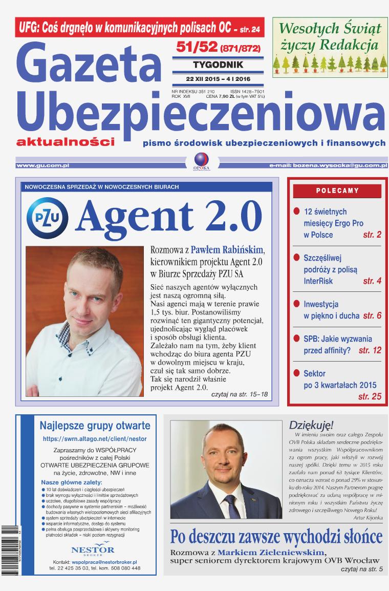 Gazeta Ubezpieczeniowa - wydanie elektroniczne nr 51-52-2015
