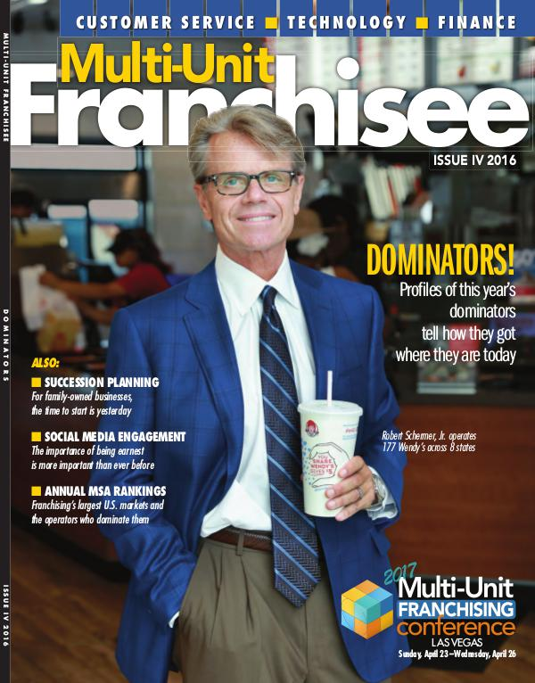 Multi-Unit Franchisee Magazine Issue IV, 2016