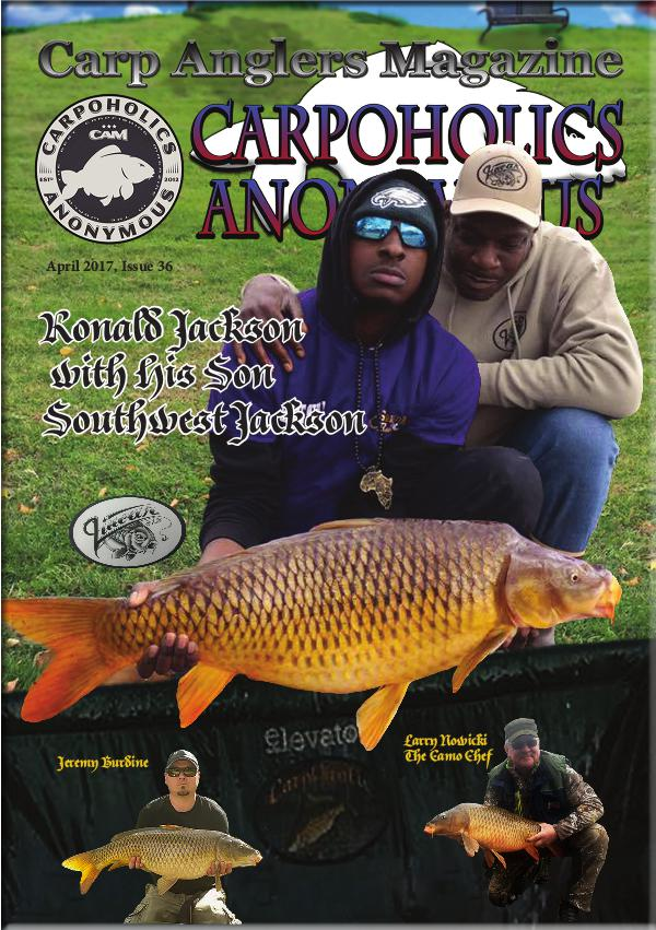 Carp Angler Magazine CAM, Carpoholic Anonymous Issue 36, April 2017
