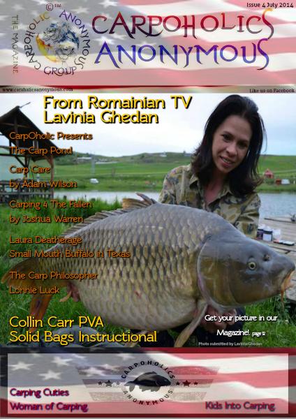 Carp Angler Magazine CAM, Carpoholic Anonymous Issue 4 July 2014