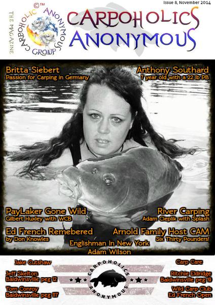 Carp Angler Magazine CAM, Carpoholic Anonymous Issue 8, November 2014