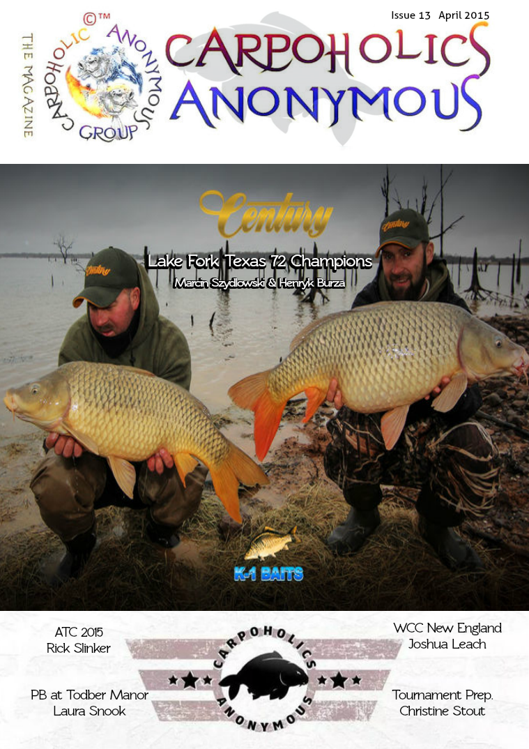 Carp Angler Magazine CAM, Carpoholic Anonymous Issue 13, April 2015