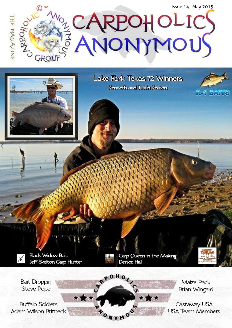Carp Angler Magazine CAM, Carpoholic Anonymous Issue 14, May 2015