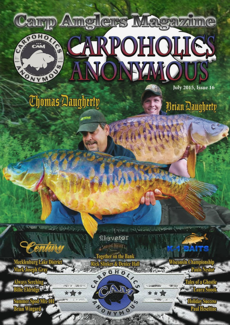 Carp Angler Magazine CAM, Carpoholic Anonymous Issue 16, July 2015