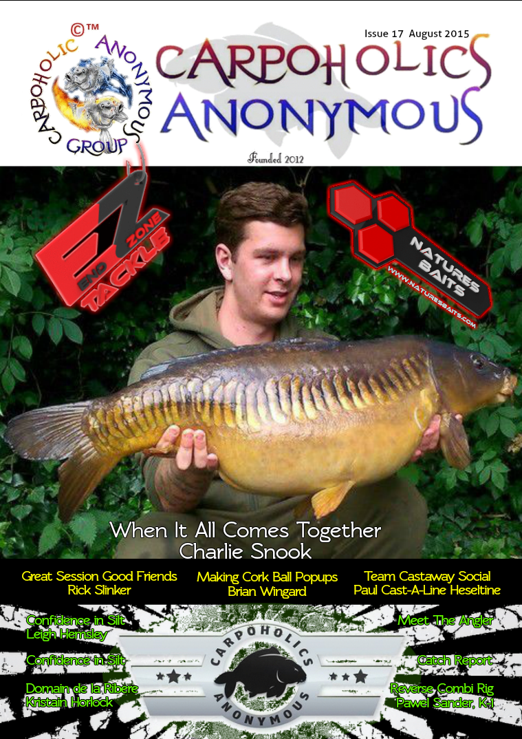 Carp Angler Magazine CAM, Carpoholic Anonymous Issue 17, August 2015