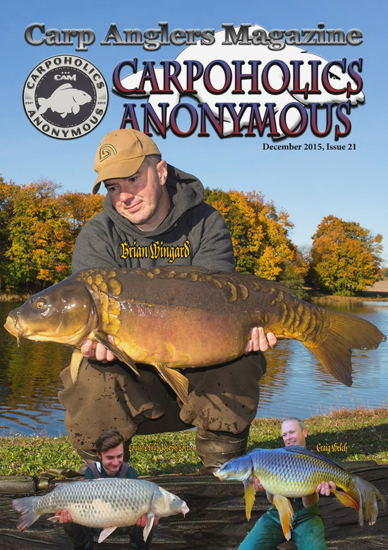 Carp Angler Magazine CAM, Carpoholic Anonymous Issue 21, December 2015