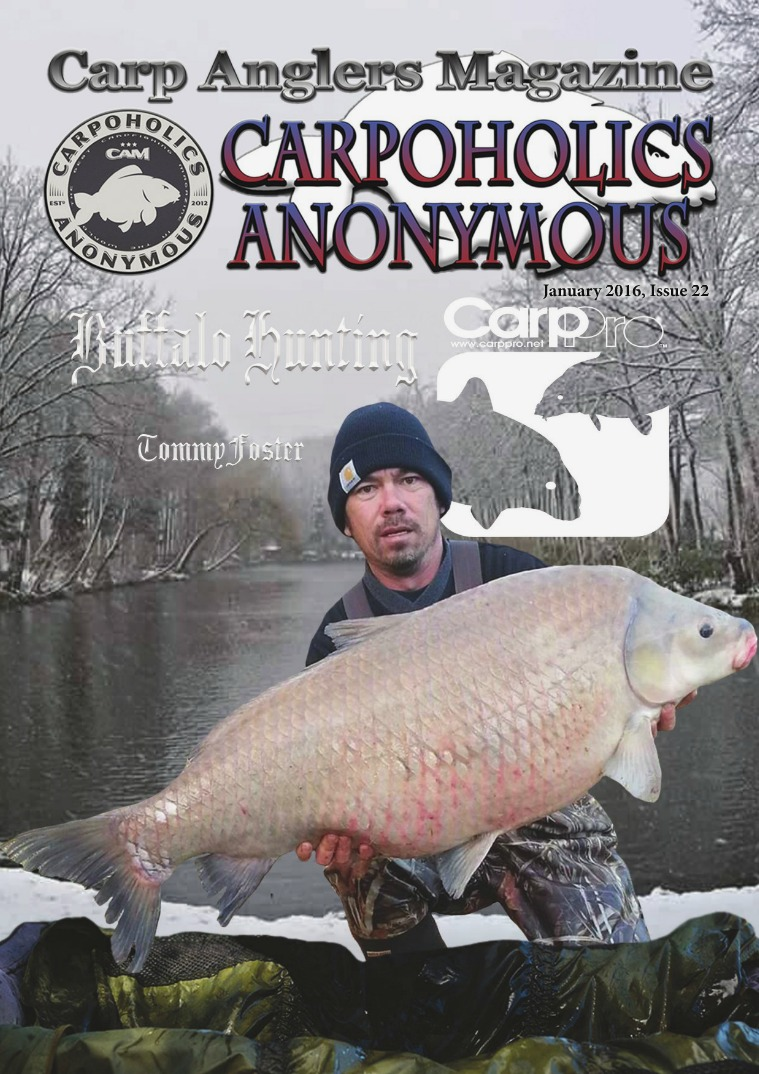 Carp Angler Magazine CAM, Carpoholic Anonymous Issue 22, January 2016