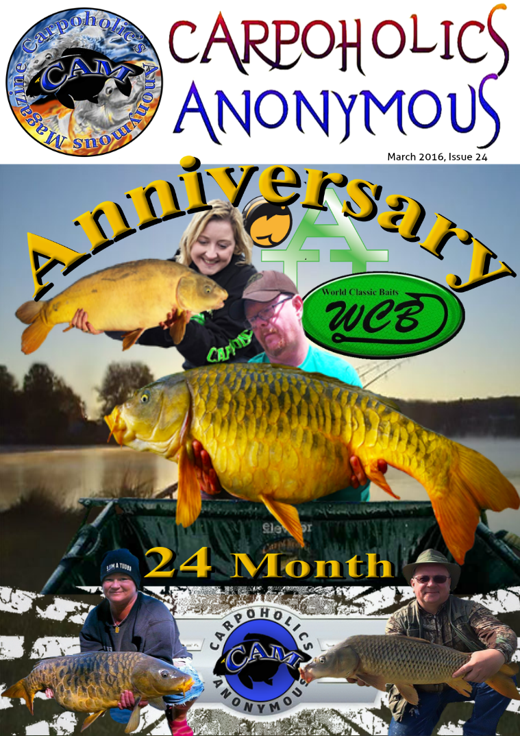 Carp Angler Magazine CAM, Carpoholic Anonymous Issue 24, March 2016