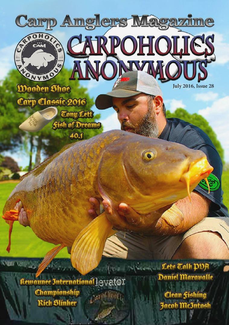 Carp Angler Magazine CAM, Carpoholic Anonymous Issue 28, July 2016