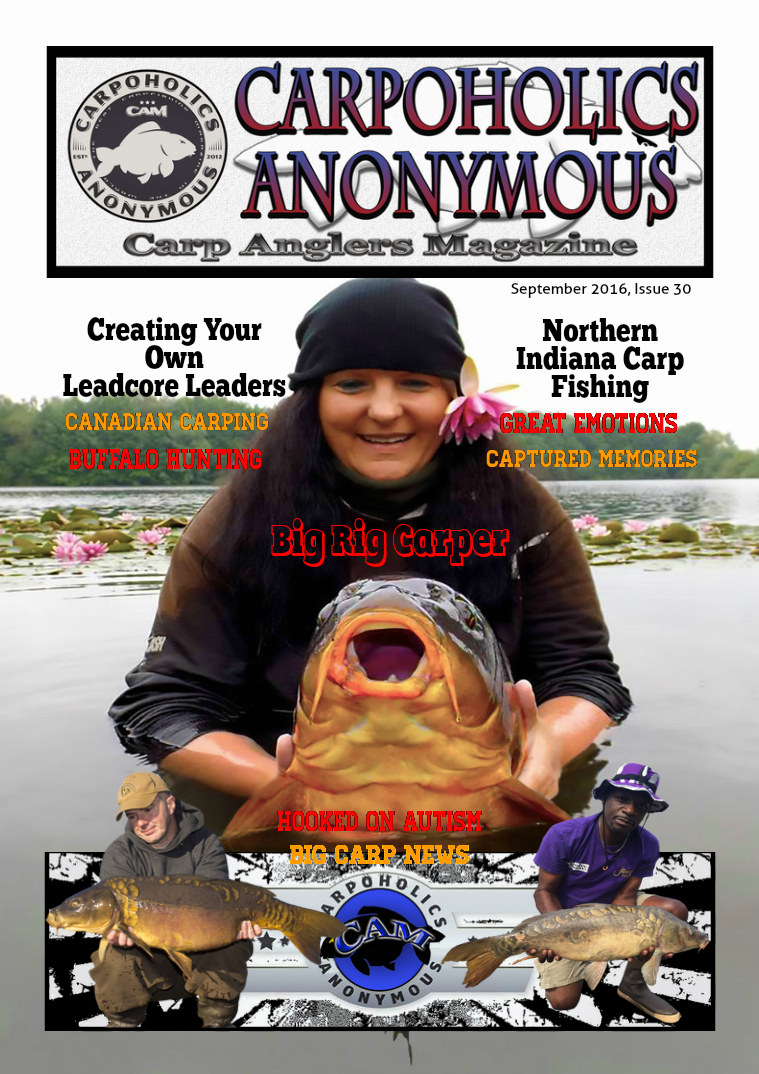 Carp Angler Magazine CAM, Carpoholic Anonymous Issue 30, September 2016