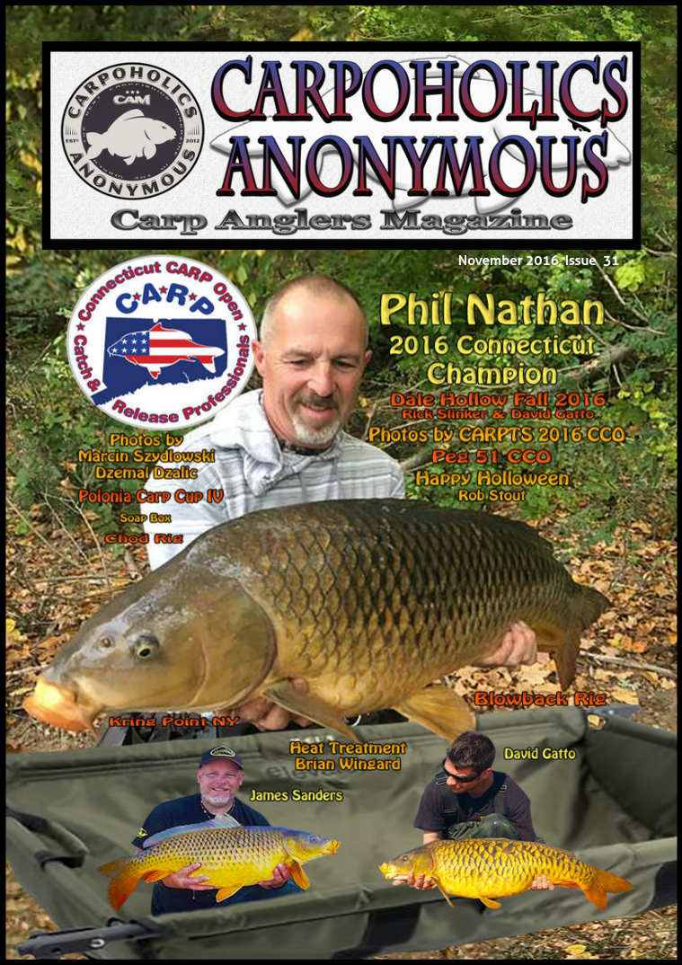 Carp Angler Magazine CAM, Carpoholic Anonymous Issue 31, November 2016