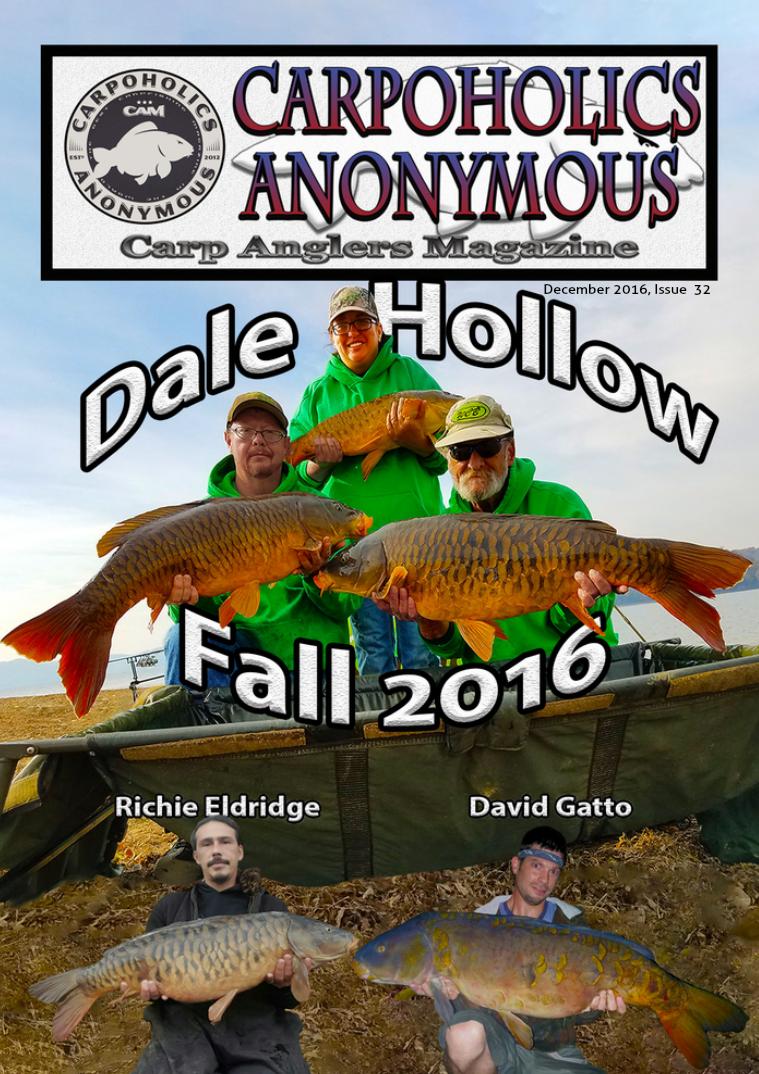 Carp Angler Magazine CAM, Carpoholic Anonymous Issue 32, December 2016
