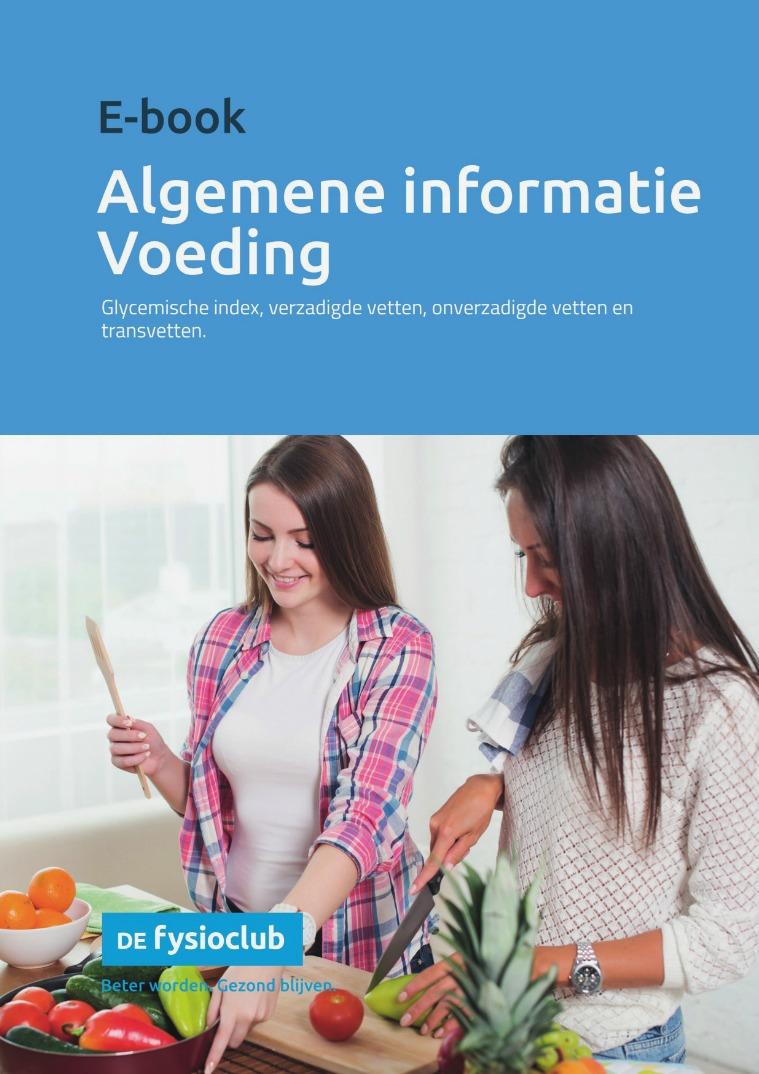 E-book Algemeen informatie Voeding