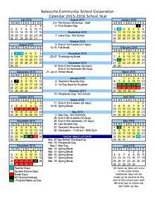 Batesville Community School Corporation Calendar