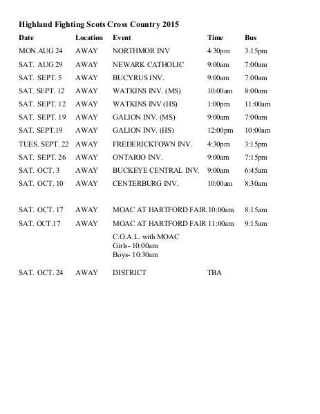 Highland Local SD Schedules CCv1 CC 1