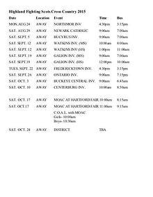Highland Local SD Schedules CCv1