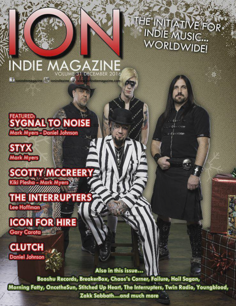 ION INDIE MAGAZINE December 2016, Volume 31