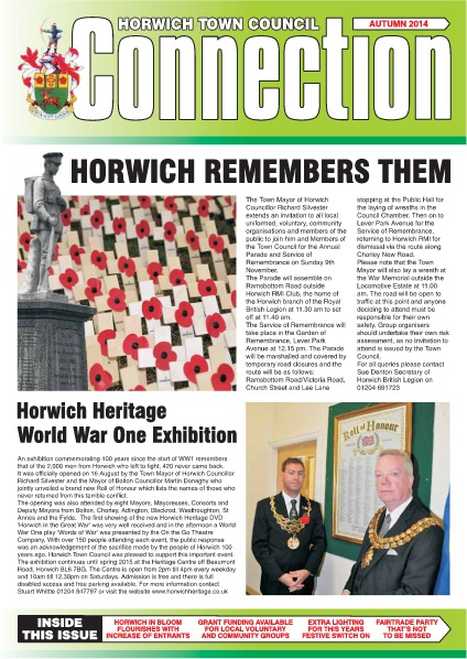 Horwich Town Council Connection Autumn 2014