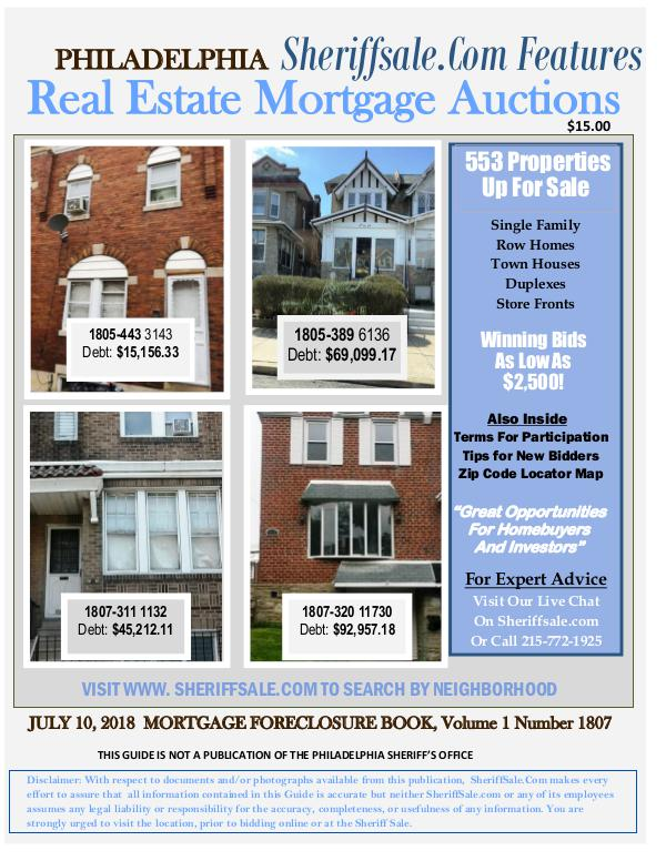Philly Foreclosures 구입하기 Philly Foreclosures gu-ibhagi July 10 Mort Final