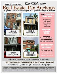September 19 Philadelphia Tax Auction Color Photo Guide